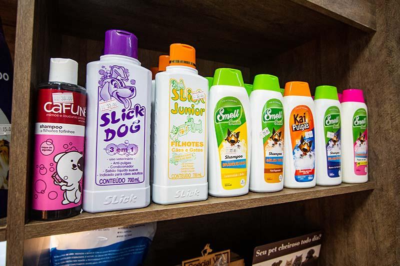 Shampoos, condicionadores e produtos de higiene